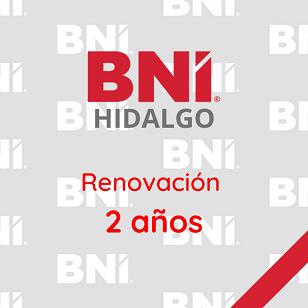 Renovación 2 años - BNI Hidalgo
